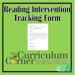 Reading Intervention Tracking Form for your Reading Management Binder