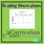 Reading Observations for your Reading Management Binder