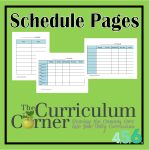 Schedule Pages for Student Planning Binder