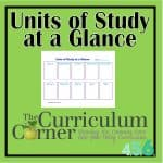 Units of Study at a Glance from The Curriculum Corner 456