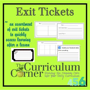 Exit Tickets for Grades 4, 5 and 6 by The Curriculum Corner