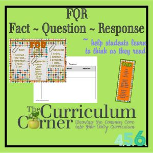 Fact Question Response by The Curriculum Corner