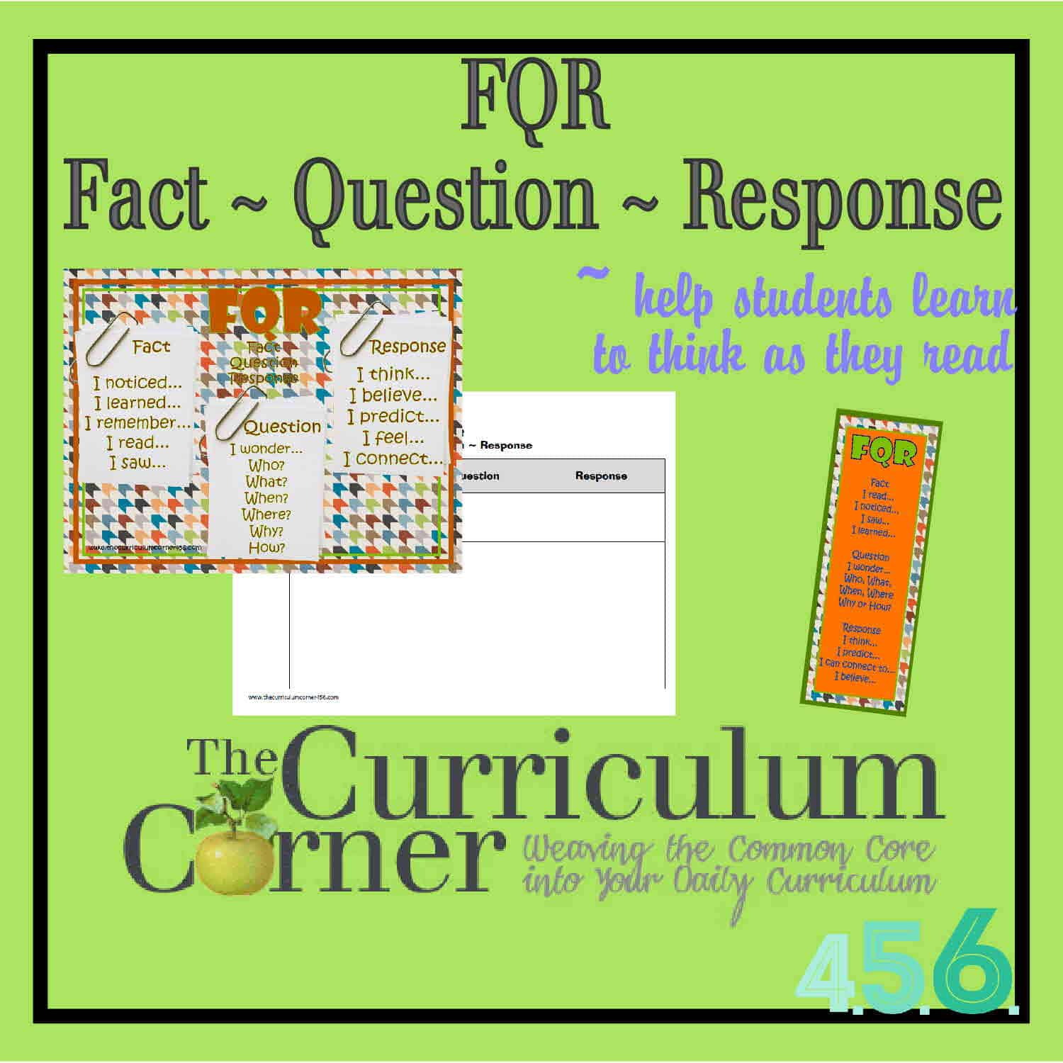 FQR – Fact, Question, Response