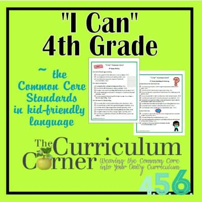 """I Can"" Common Core 4th Grade"