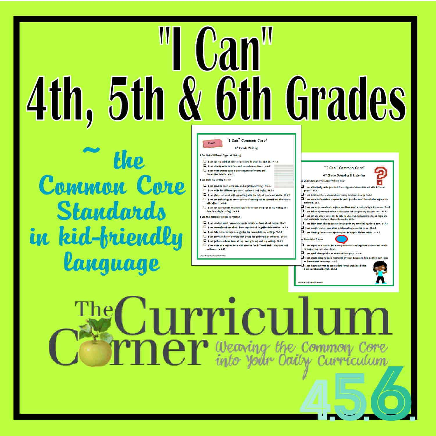 """I Can"" Standards for 4th, 5th & 6th Grades"