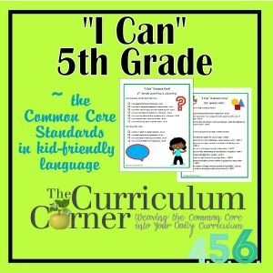 I Can Common Core 5th Grade
