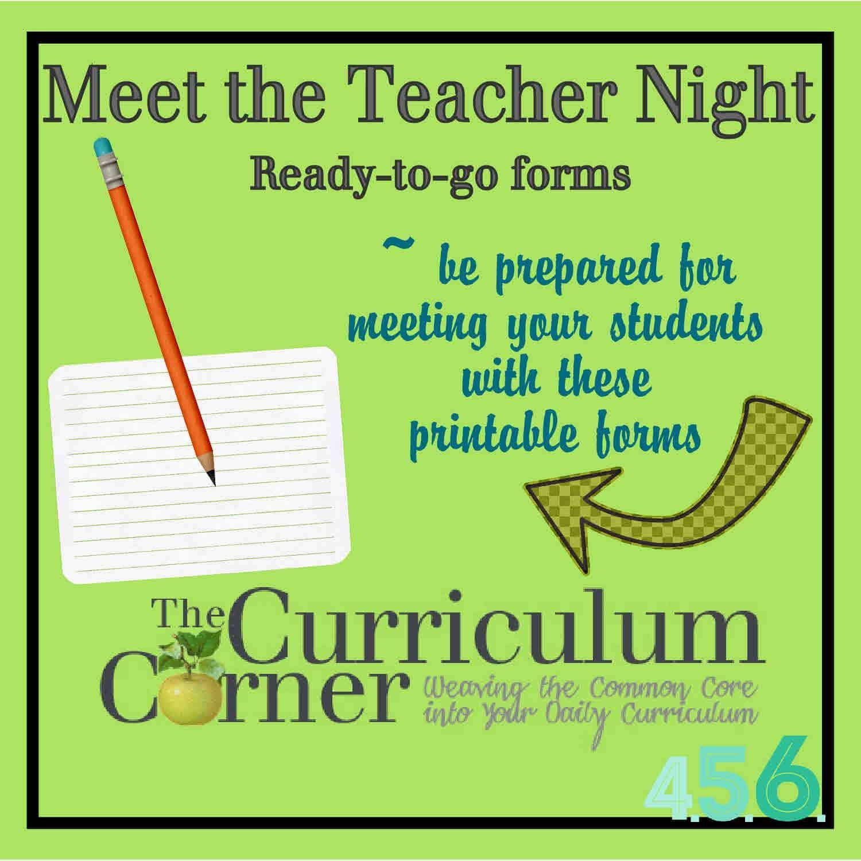 free meet the teacher template - meet the teacher event the curriculum corner 4 5 6