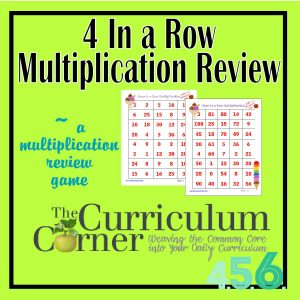 4 in a row multiplication game