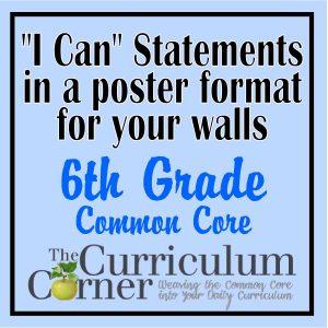 6th Grade I Can