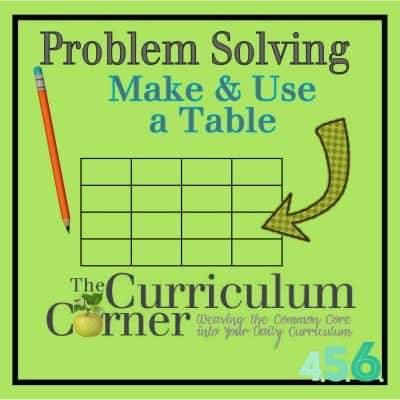 Problem Solving Strategy:  Making & Using a Table