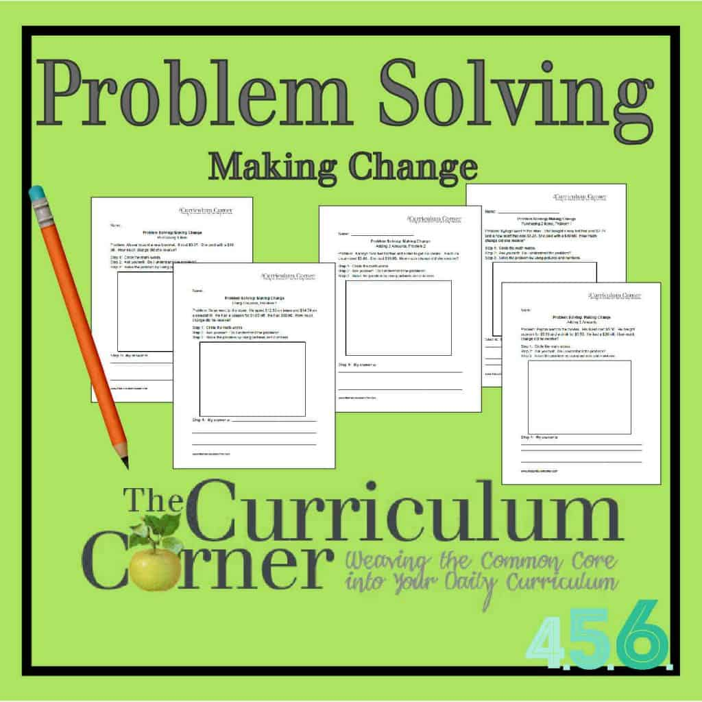 Problem Solving:  Making Change by The Curriculum Corner