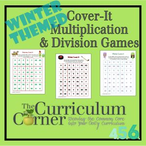 Winter Cover-It Multiplication & Division Games by The Curriculum Corner