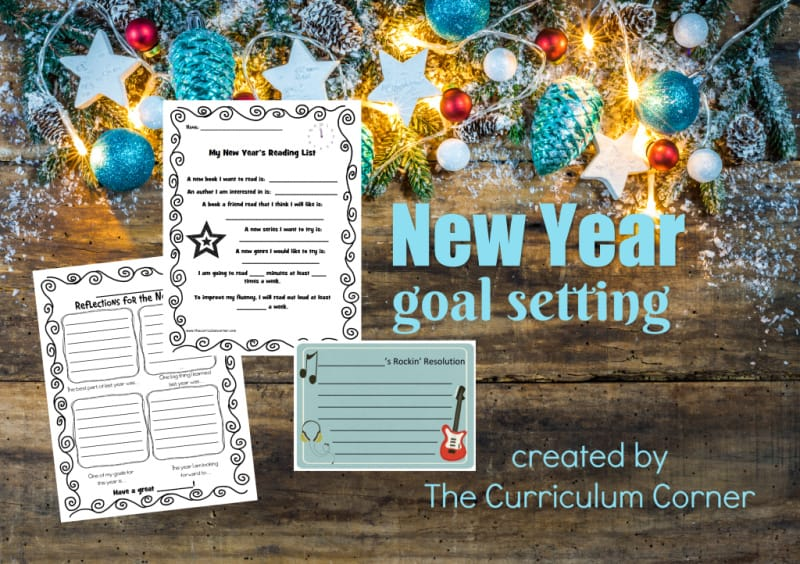Start the new year with goal setting and resolution making in your classroom with these free resources.
