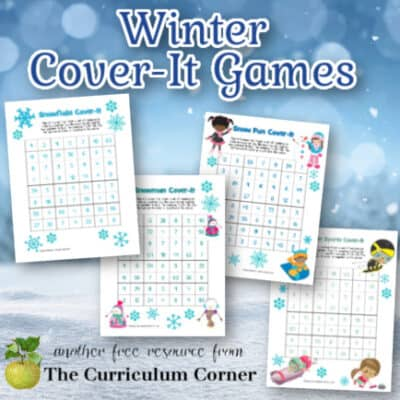 Winter Cover-It Multiplication & Division Games