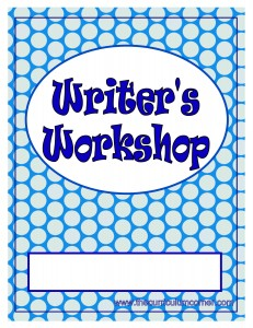 Blue Dots Writer's Workshop Cover with FREE Writing Binder from The Curriculum Corner
