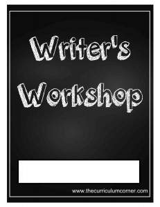 Chalkboard Writer's Workshop Cover with FREE Writing Binder from The Curriculum Corner