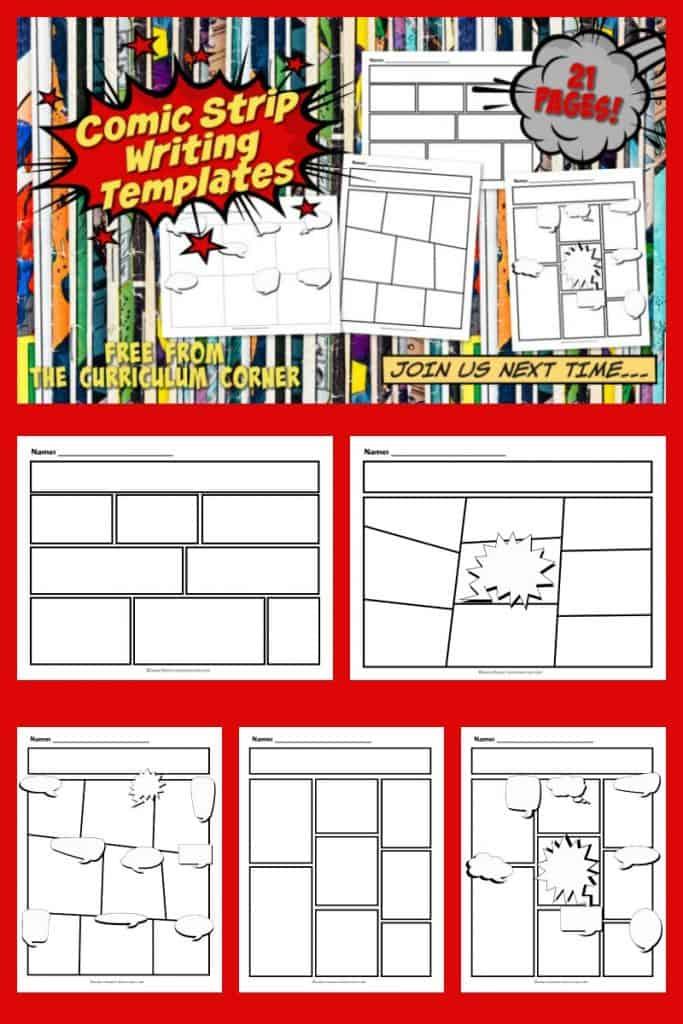 Comic Strip Writing Templates - The Curriculum Corner 4-5-6