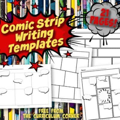 Comic Strip Writing Templates