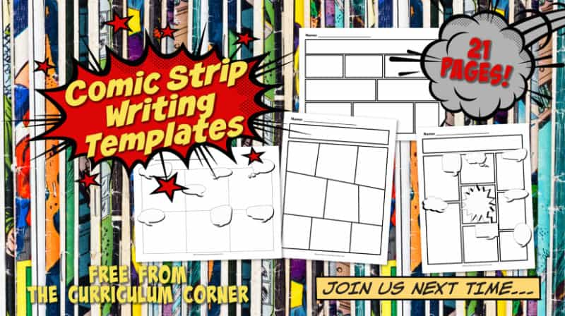 Comic Strip Writing Templates The Curriculum Corner 4 5 6