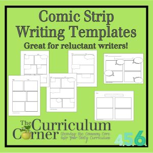 Comic Strip Writing Templates by The Curriculum Corner
