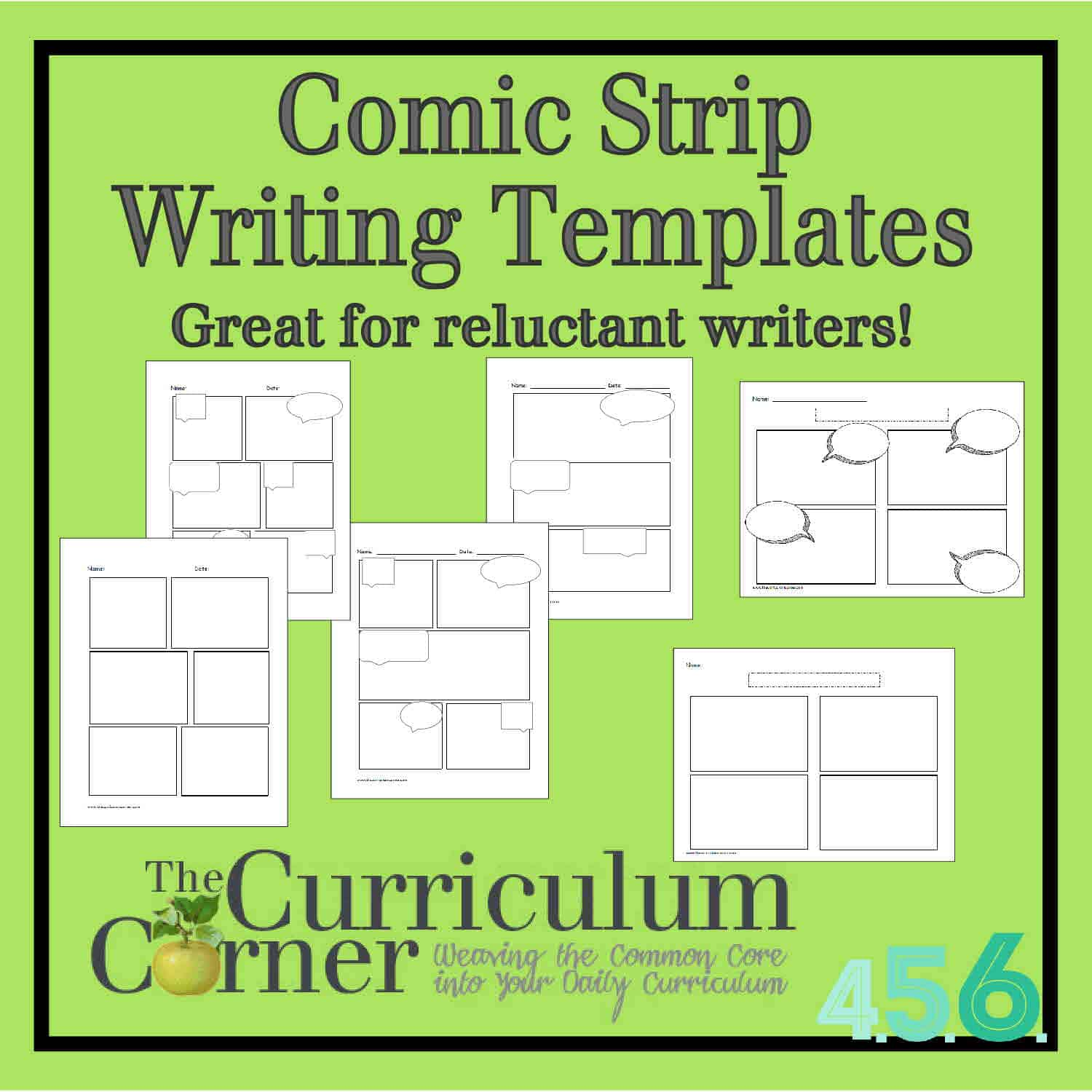 Comic Strip Writing Templates The Curriculum Corner 4 5 6