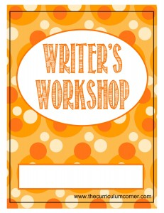 Orange Dots Writer's Workshop Cover with FREE Writing Binder from The Curriculum Corner