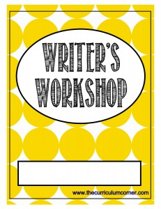 Yellow Dots Writer's Workshop Cover with FREE Writing Binder from The Curriculum Corner