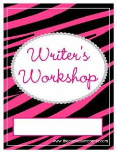 Pink Zebra Writer's Workshop Cover with FREE Writing Binder from The Curriculum Corner