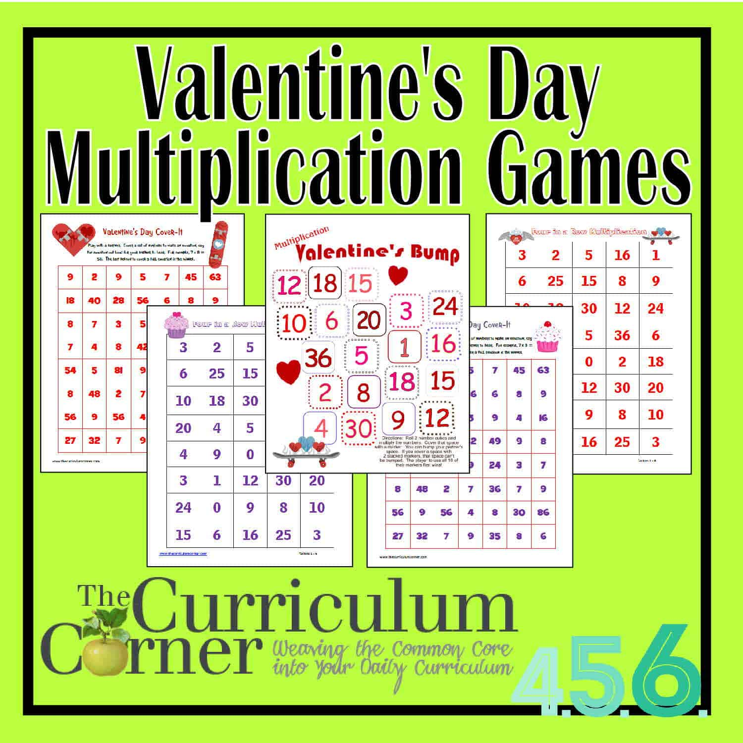 photograph about Multiplication Games Printable identify Valentines Working day Multiplication Online games - The Curriculum Corner
