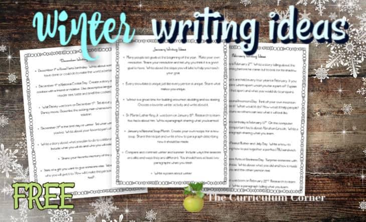 winter writing ideas