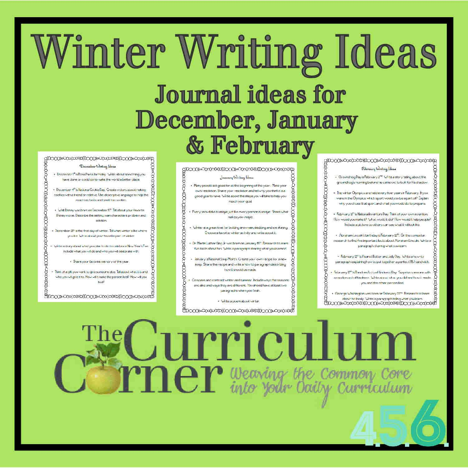 Winter Writing Ideas