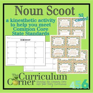 Noun Scoot for Intermediate Grades Free from The Curriculum Corner