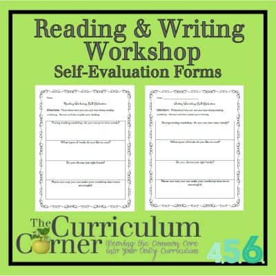 Reading & Writing Workshop Self Evaluation Forms