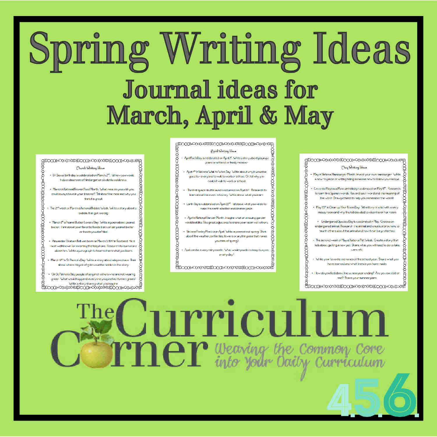 Spring Writing Ideas