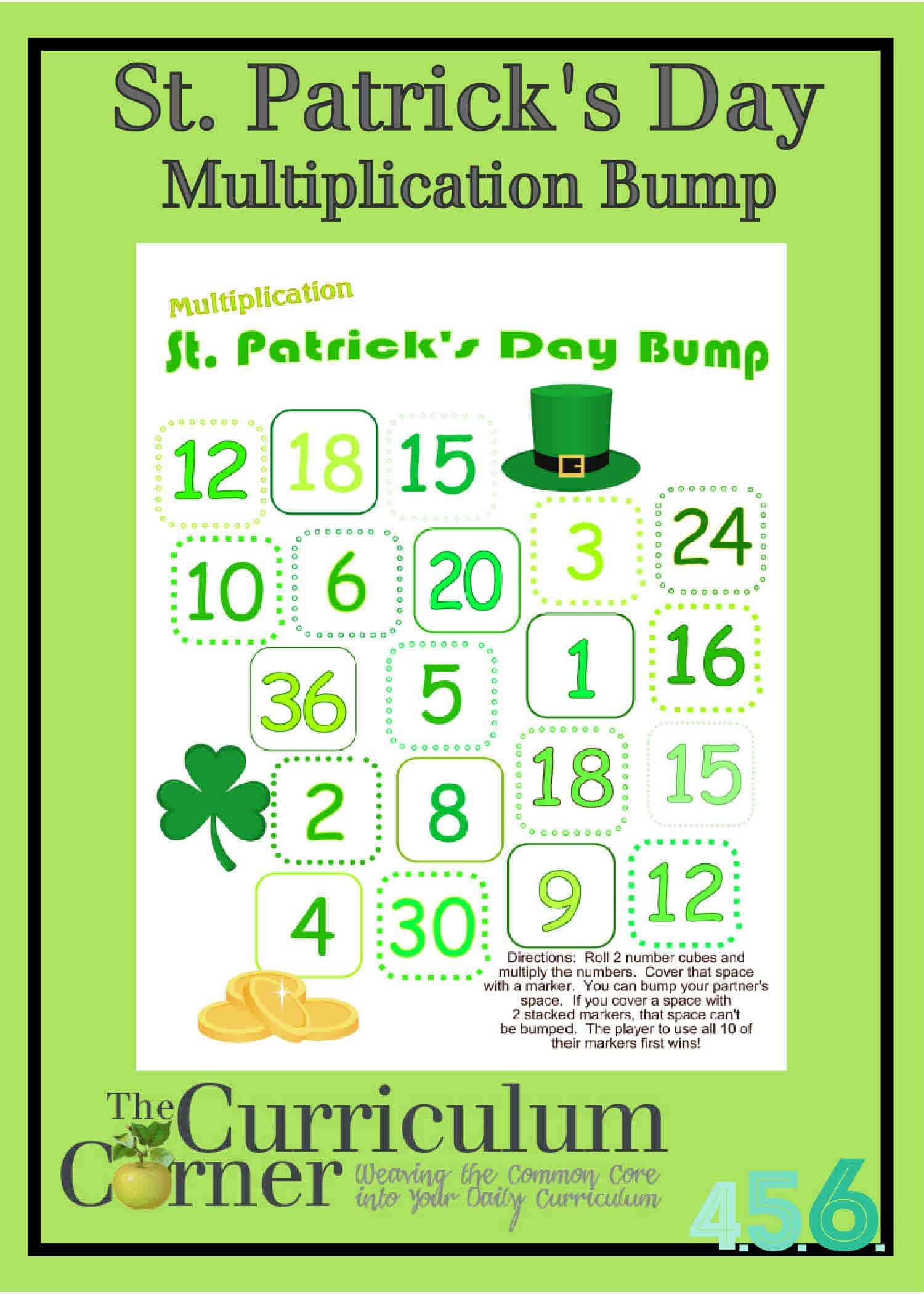 St. Patrick's Day Multiplication Bump