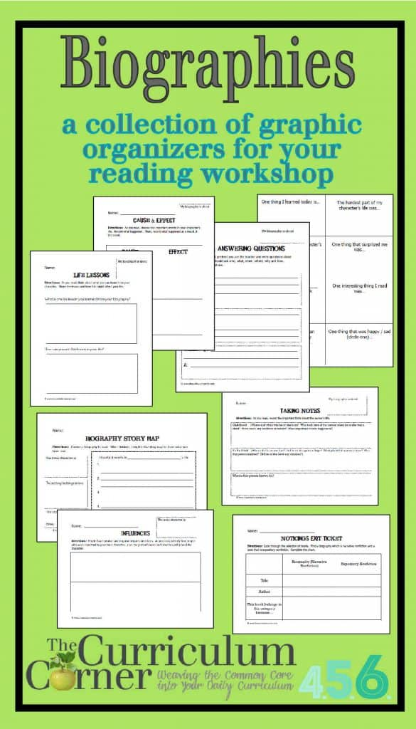 Biography Graphic Organizers by The Curriculum Corner