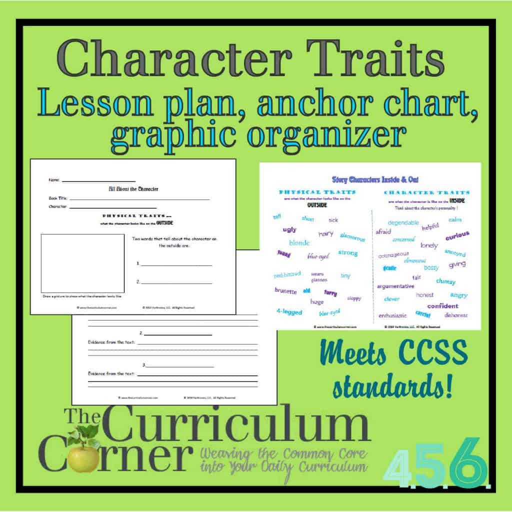 Character Traits versus Physical Traits lesson plan, graphic organizer ...