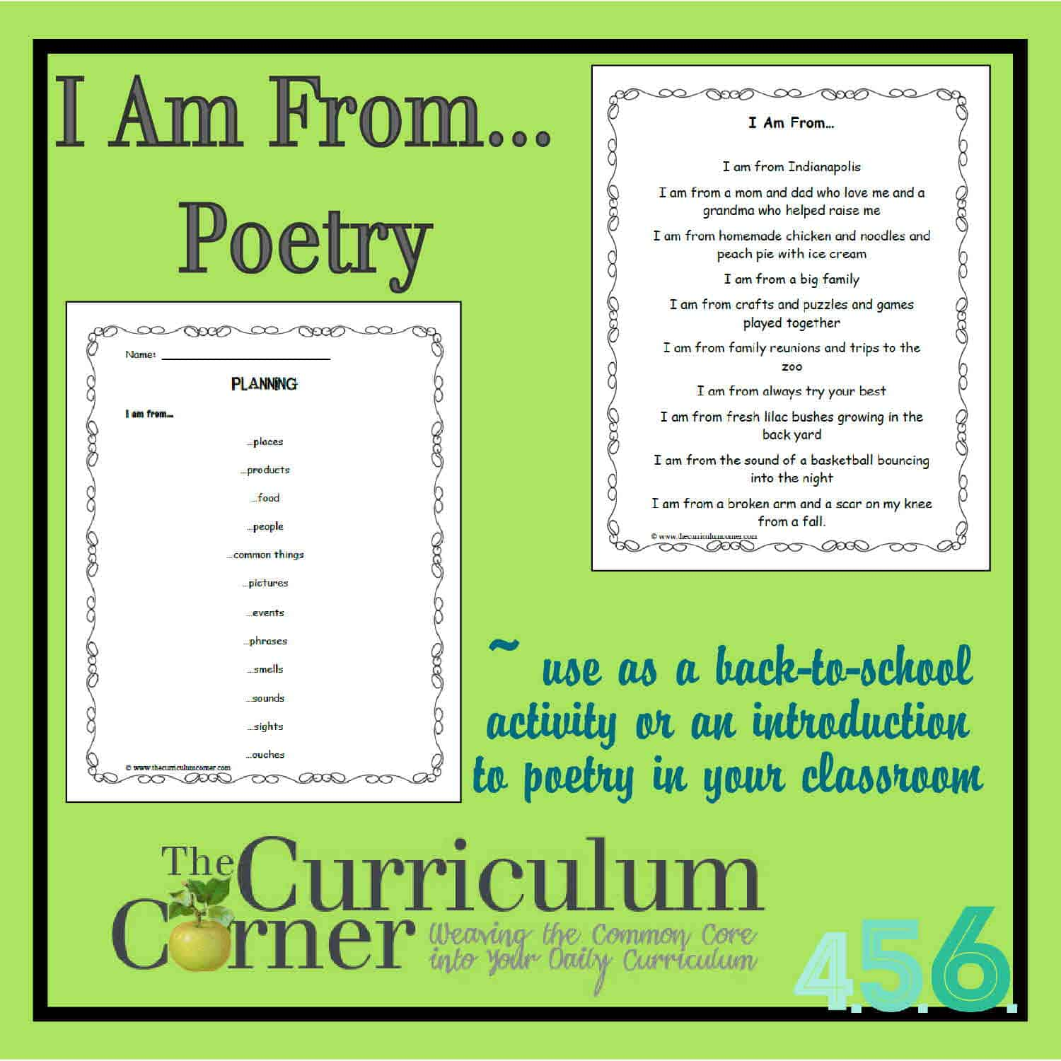 I am from… Poetry