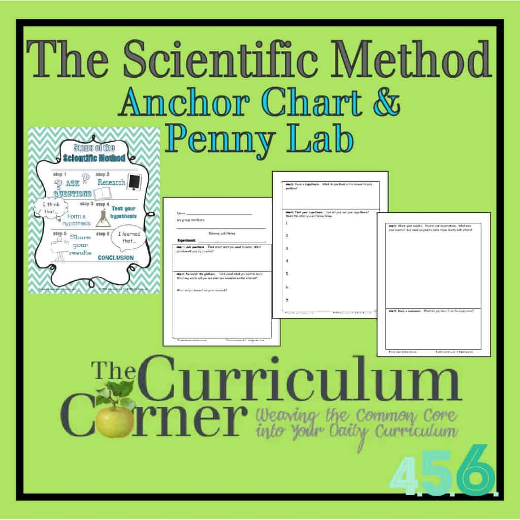 The Scientific Method Anchor Chart, Penny Lab & Recording Page by The Curriculum Corner & VariQuest