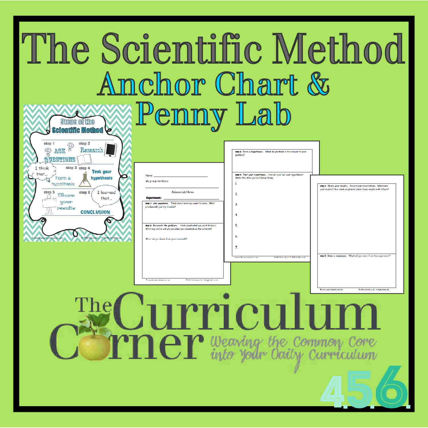 The Scientific Method Anchor Chart & Penny Experiment