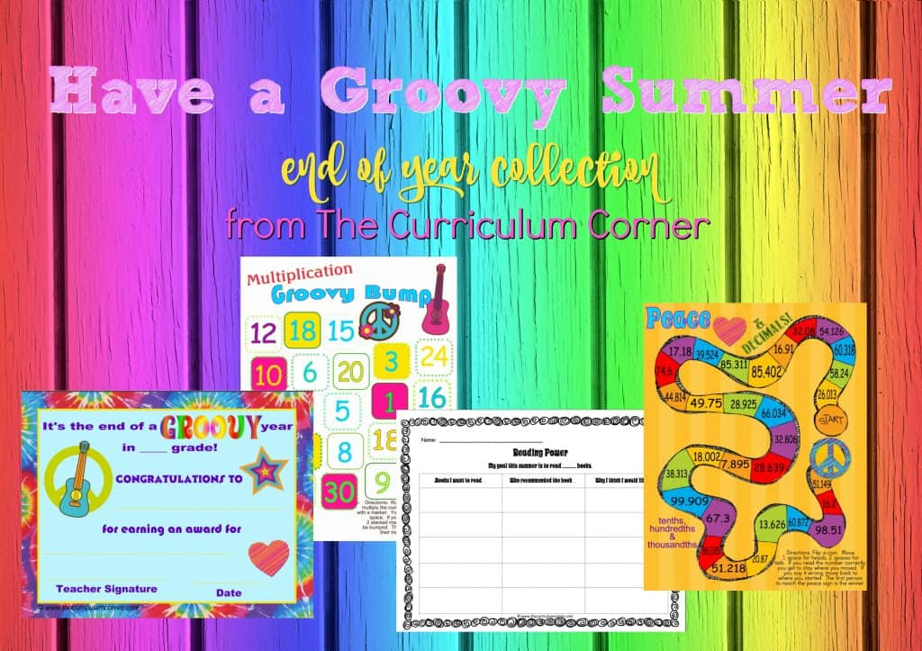 This fun, tie-dyed theme collection will be a great addition to your end of year celebrations at school! We've created an assortment of GROOVY resources to add to your fun.