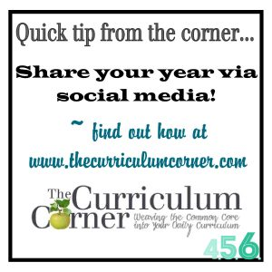 Share your year via social media quick tip idea from The Curriculum Corner