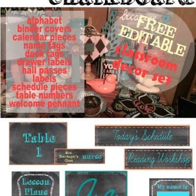 Shabby Chic Chalkboard Decor