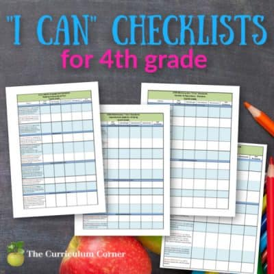 """Updated 4th Grade CCSS and """"I Can"""" Checklists"""
