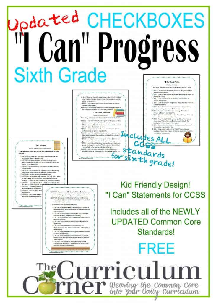 """I Can"" CCSS Statements 