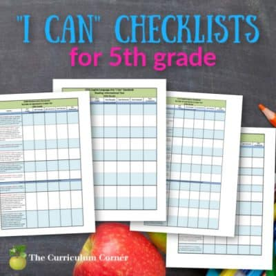 """Updated 5th Grade CCSS and """"I Can"""" Checklists"""