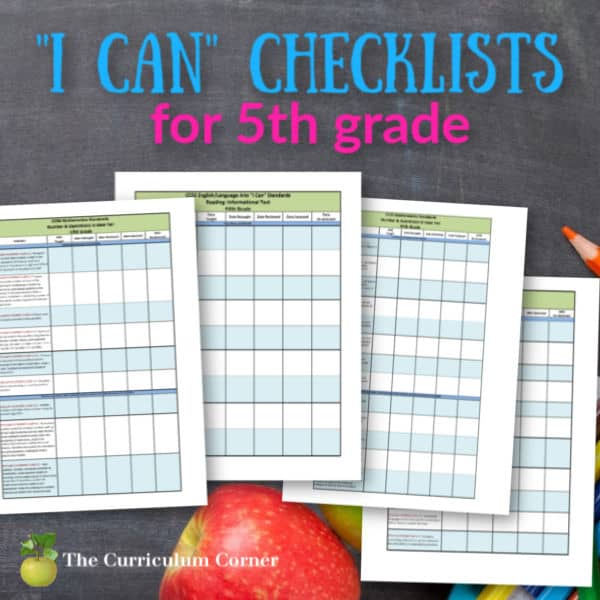"Updated 5th Grade CCSS and ""I Can"" Checklists"