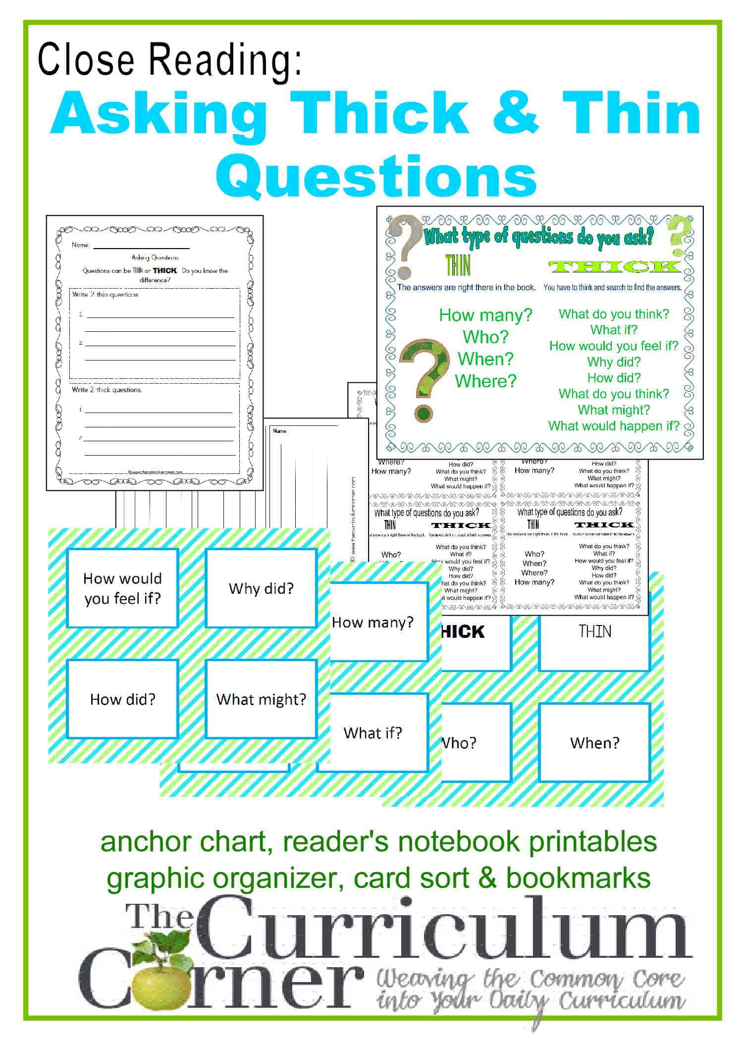Close Reading:  Asking Thick & Thin Questions