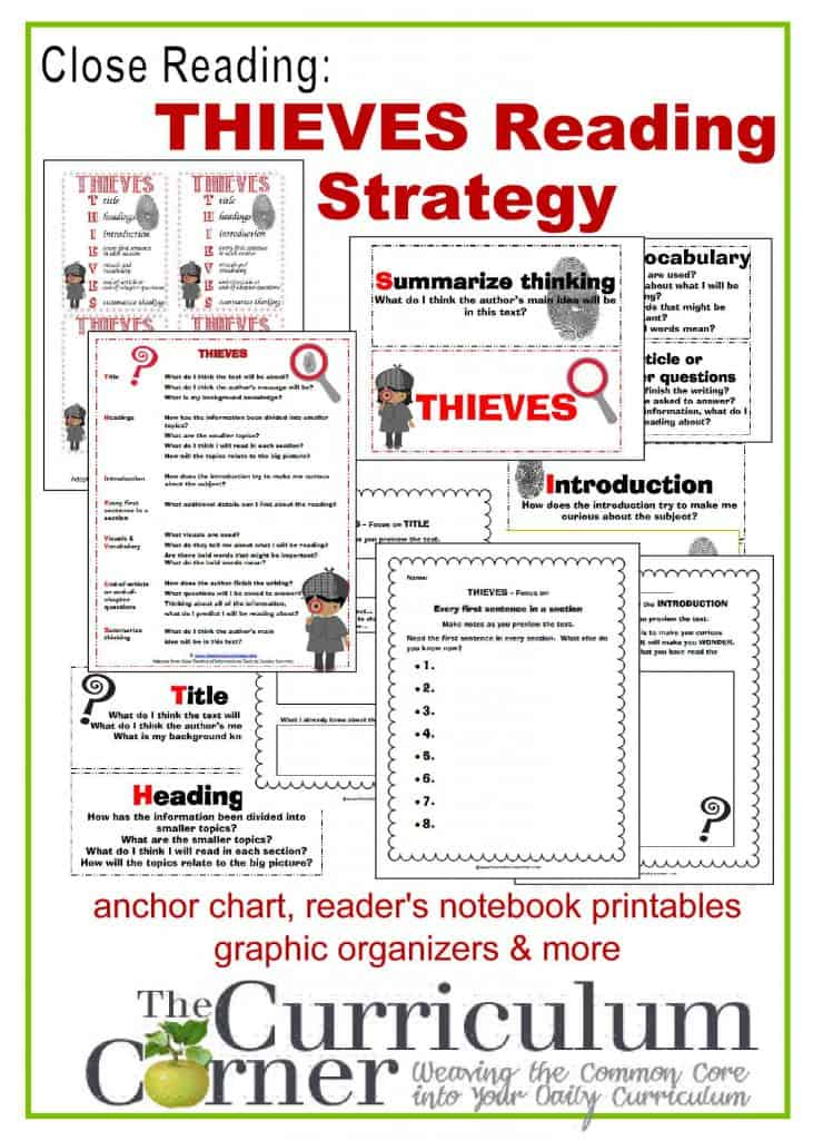 Close Reading: THIEVES Reading Strategy - The Curriculum ...