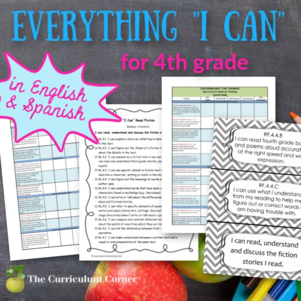 """Everything """"I Can"""" Common Core for 4th Grade"""